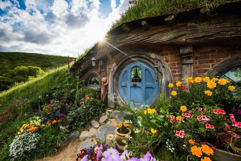 viajar con niños hobbiton