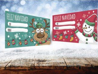 Postales navideñas para decorar vuestros regalos
