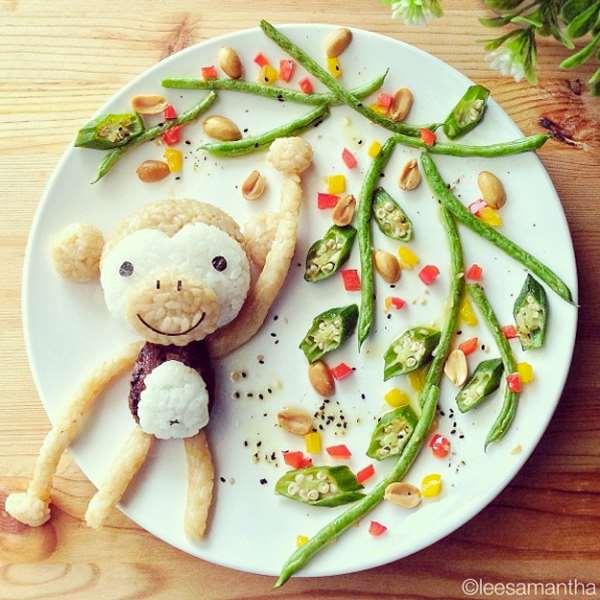 madre convierte comida obras de arte