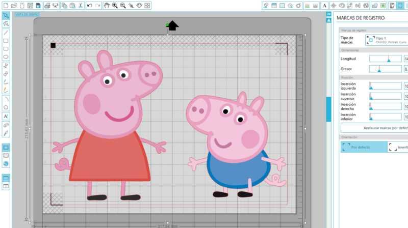 PRINT & CUT de Peppa Pig