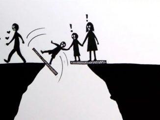 Ilustraciones que muestran el sufrimiento de una separación