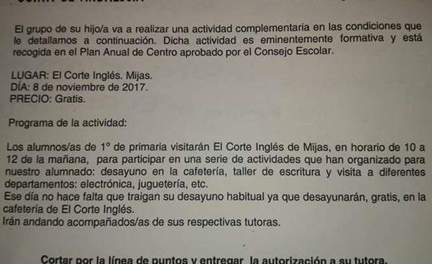 Un colegio de Málaga organiza una excursión