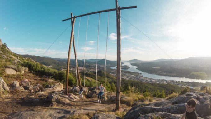 el mejor columpio del mundo está en Vila Nova de Cerveira