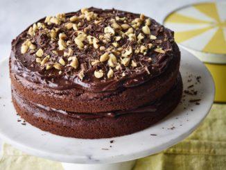 bizcocho de cacahuete y chocolate