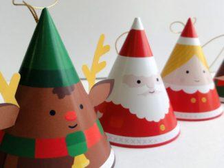 Adornos navideños para imprimir