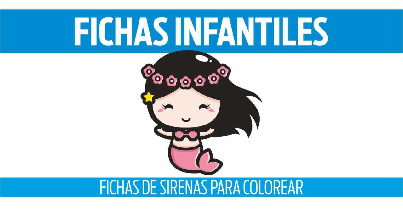 FICHAS DE SIRENAS PARA COLOREAR