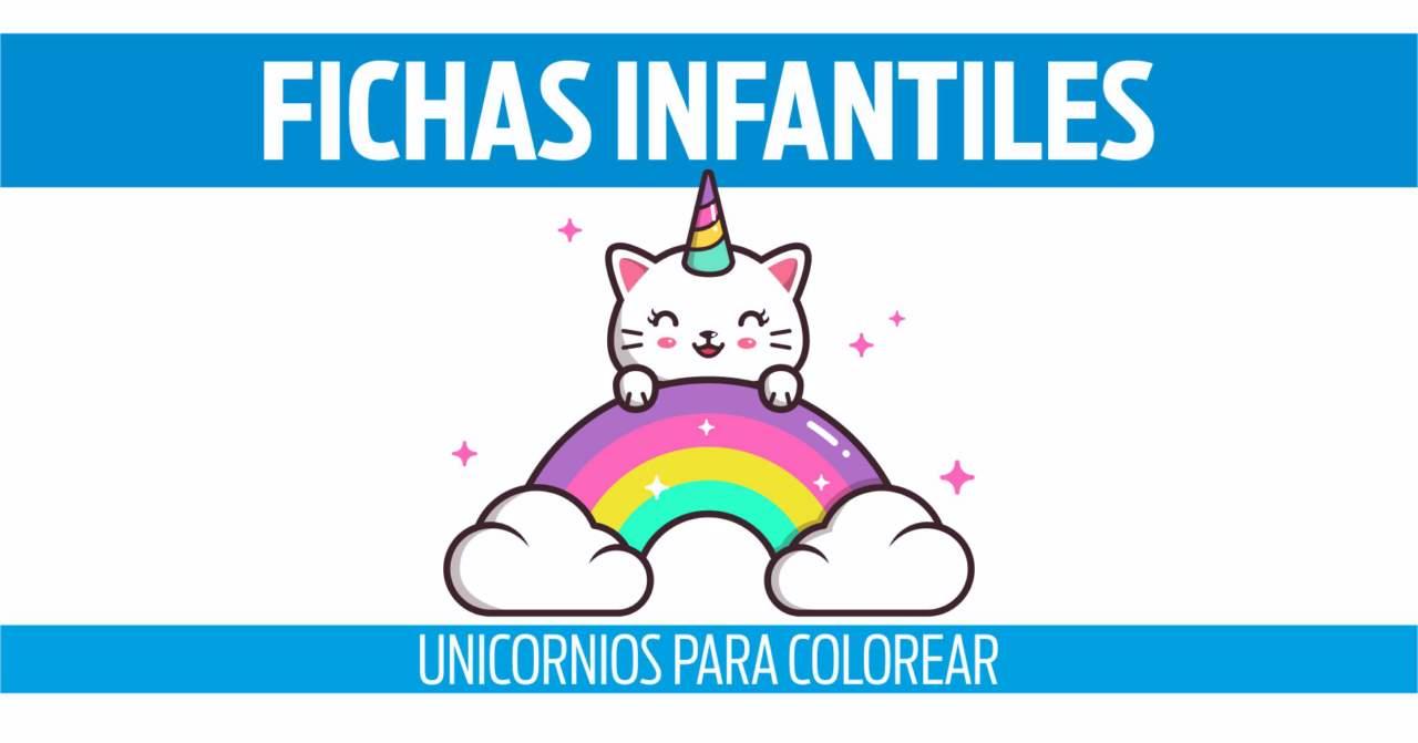 fichas de unicornios para colorear