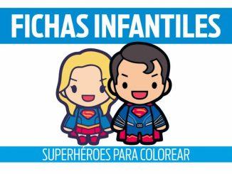 fichas de superhéroes para colorear