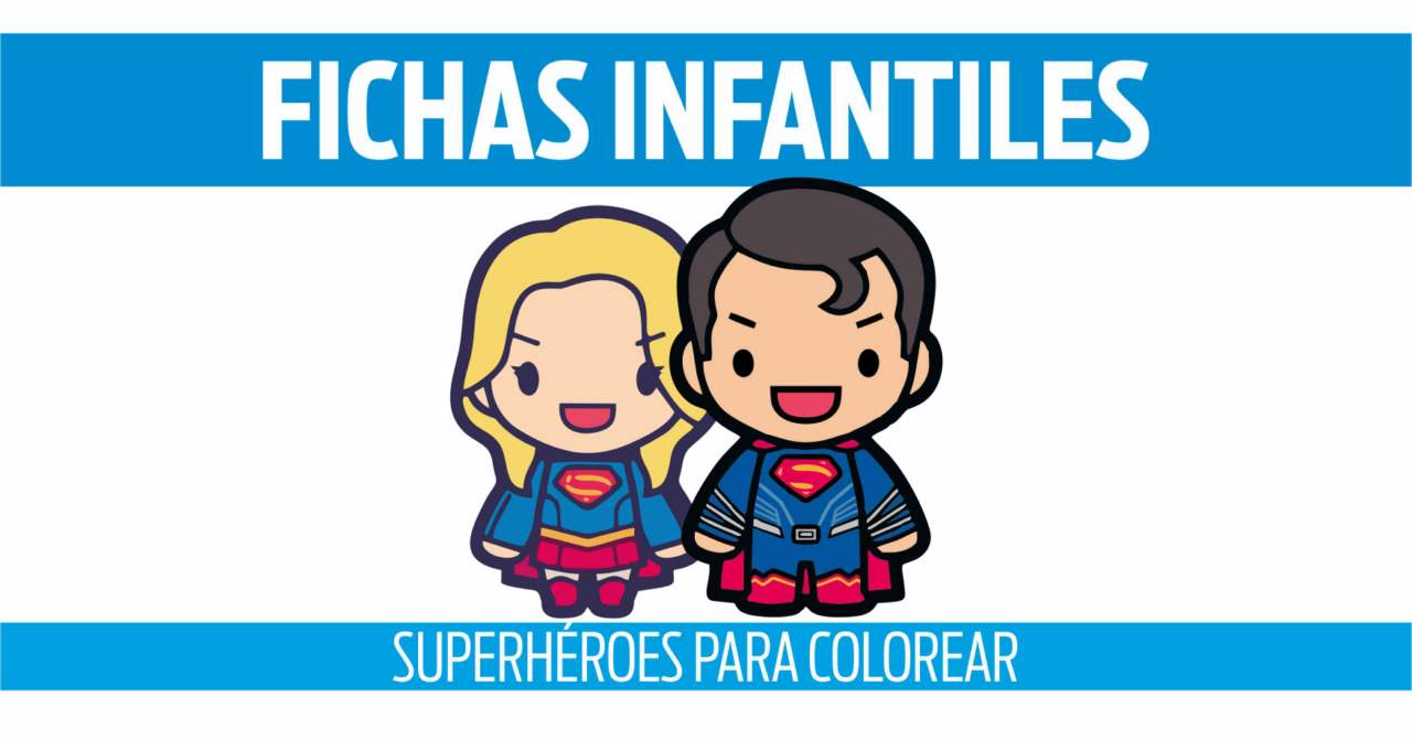 fichas de superhéroes para colorear