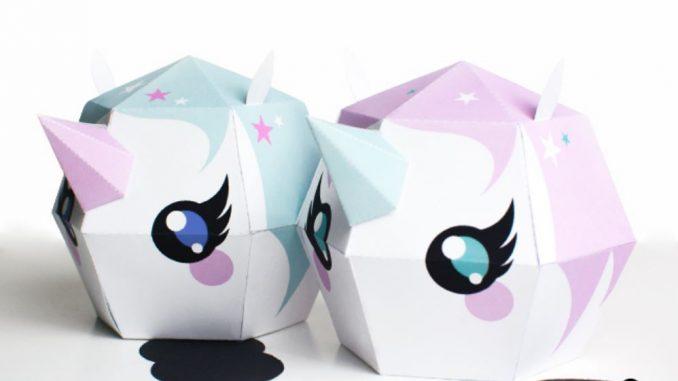 Unicornios de cartulina